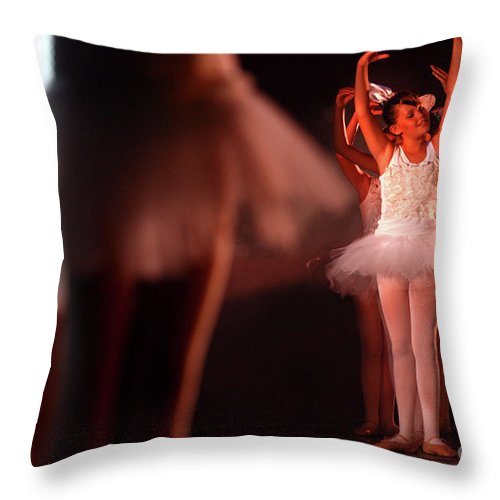 Ballet Throw Pillow featuring the photograph Ballet Performance by Chen Leopold