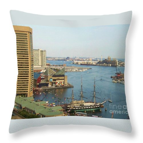 Baltimore Throw Pillow featuring the photograph Baltimore by Debbi Granruth