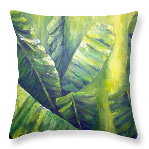 Bananas Throw Pillow featuring the painting Bananas by Carol P Kingsley