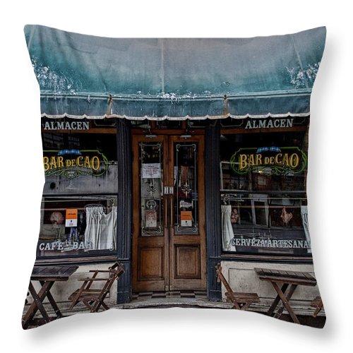 Bar Throw Pillow featuring the photograph Bar De Cao by Hans Wolfgang Muller Leg