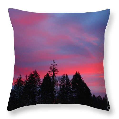 Sunrise Throw Pillow featuring the photograph Beautiful Sunrise by Nick Gustafson