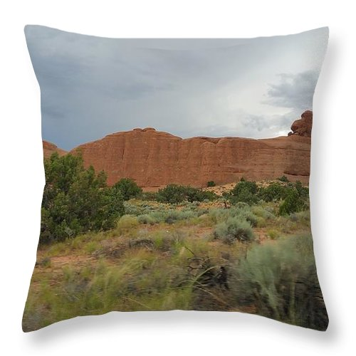 Utah Throw Pillow featuring the photograph Utah Scenery by Hughes Country Roads Photography