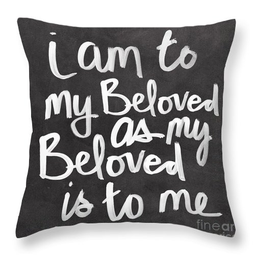 Beloved Throw Pillow featuring the mixed media Beloved by Linda Woods