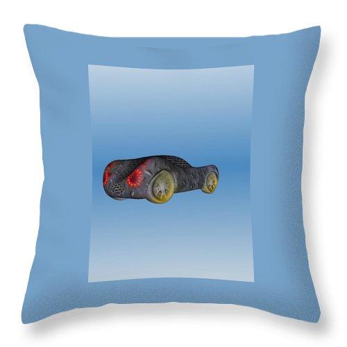 Car Throw Pillow featuring the painting Bencar by Richard Benson