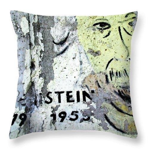 Berlin Throw Pillow featuring the photograph Berlin Wall Mural by KG Thienemann