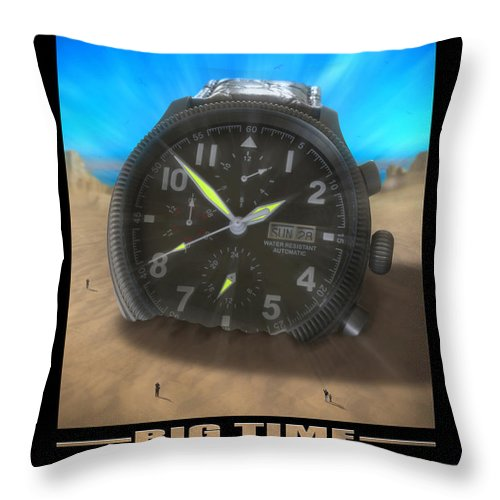 Watch Throw Pillow featuring the photograph Big Time by Mike McGlothlen