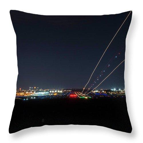 Birmingham Airport Throw Pillow featuring the photograph Birmingham Airport ,skyline by Jeffery Gordon