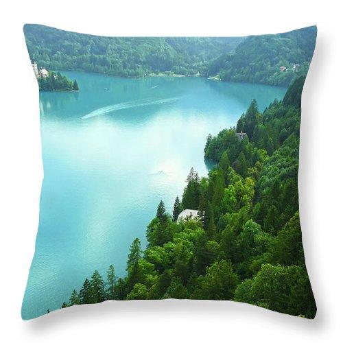 Island Throw Pillow featuring the photograph Bled by Daniel Csoka