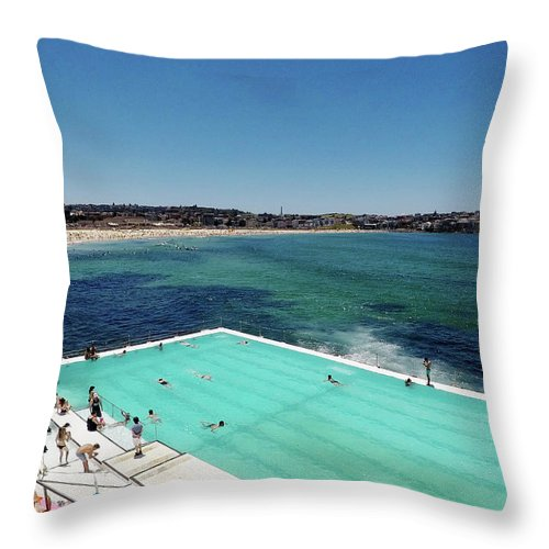 Throw Pillow featuring the photograph Bondi Beach by Chris Lane