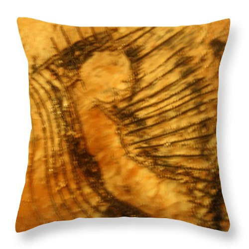 Jesus Throw Pillow featuring the ceramic art Born Again - Tile by Gloria Ssali