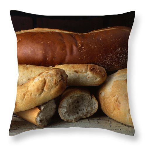 Bread Throw Pillow featuring the photograph Bread by Jessica Wakefield