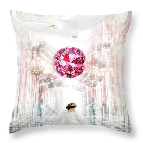 Bride Throw Pillow featuring the digital art Bride by Esther Eunjoo Jun