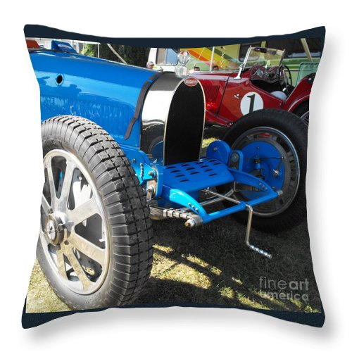 Bugatti Throw Pillow featuring the photograph Bugatti Racer by Neil Zimmerman