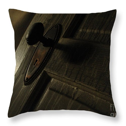 Ghostly Throw Pillow featuring the photograph Burned Knob 02 by Peter Piatt