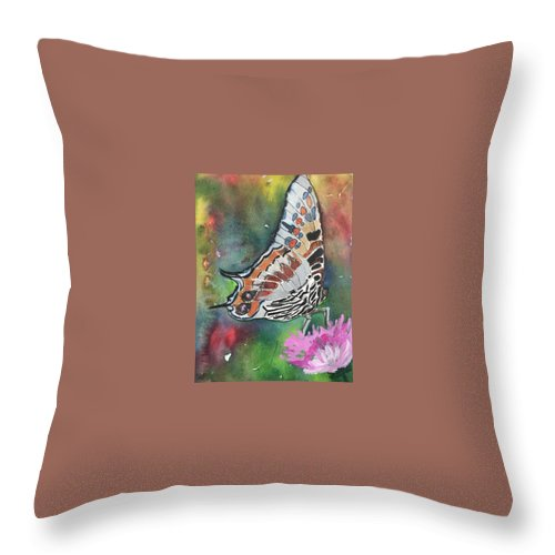 Butterfly Throw Pillow featuring the painting Butterfly by Marita McVeigh