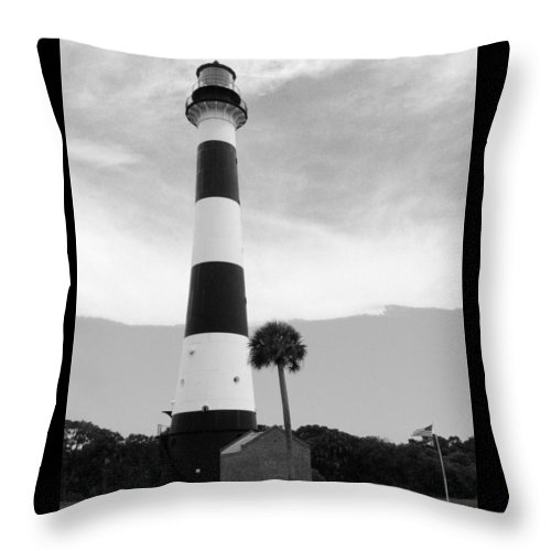 Lighthouse Throw Pillow featuring the photograph Canaveral Lighthouse by W Gilroy