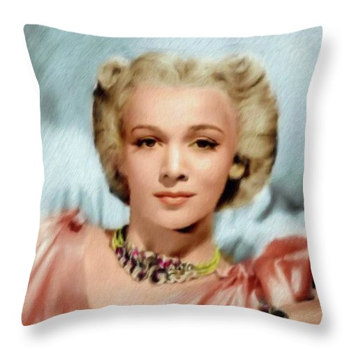 Carole Landis Vintage Actress Throw Pillow For Sale By Esoterica Art Agency
