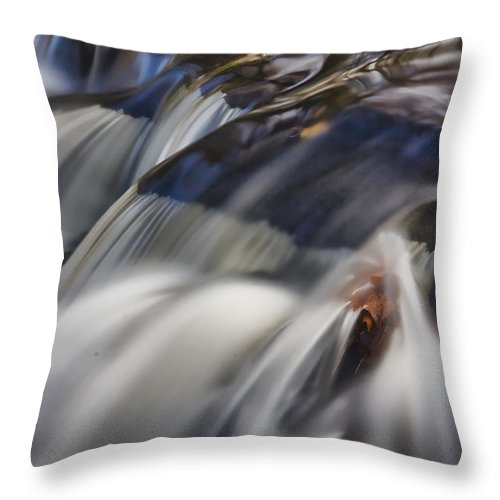 Flow Throw Pillow featuring the photograph Cascade by June Marie Sobrito