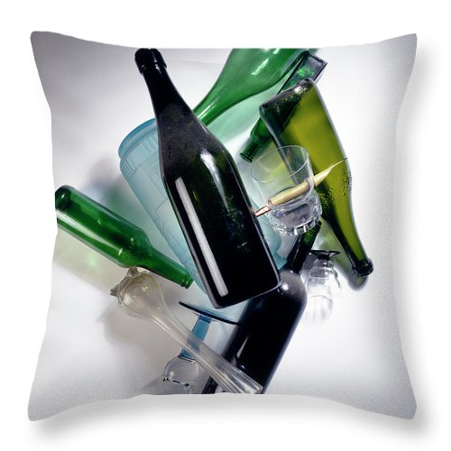Composition Throw Pillow featuring the photograph Cascade by Stefania Levi