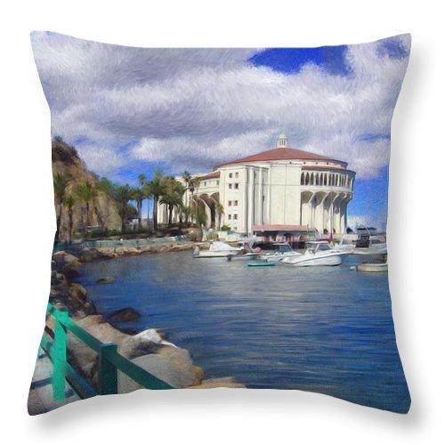 Catalina Throw Pillow featuring the digital art Casino Runner by Snake Jagger