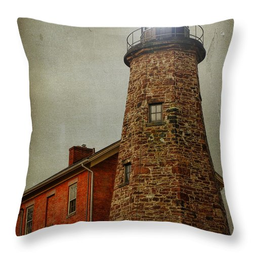 Lighthouse Throw Pillow featuring the photograph Charlotte Genesee Lighthouse by Joel Witmeyer