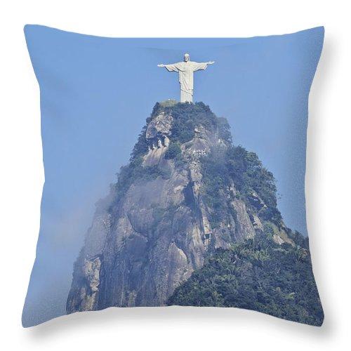 South America Throw Pillow featuring the photograph Christ The Redeemer, Rio De Janeiro by Karol Kozlowski