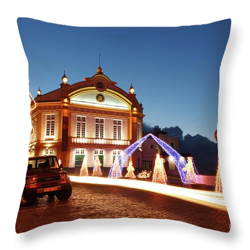 Christmas Throw Pillow featuring the photograph Christmas In Ribeira Grande by Gaspar Avila