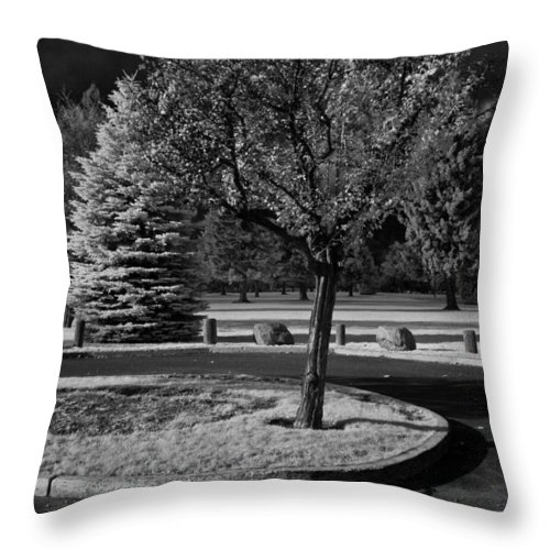Infrared Throw Pillow featuring the photograph City Beach In Infrared by Lee Santa