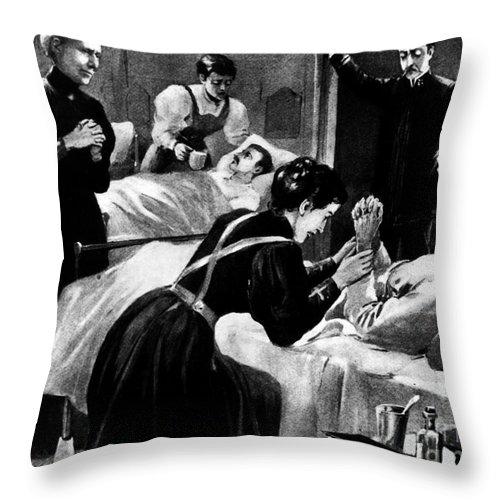 1898 Throw Pillow featuring the photograph Clara Barton (1821-1912) by Granger