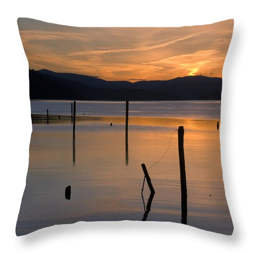 Coeur D Alene Throw Pillow featuring the photograph Cloud Dance by Idaho Scenic Images Linda Lantzy