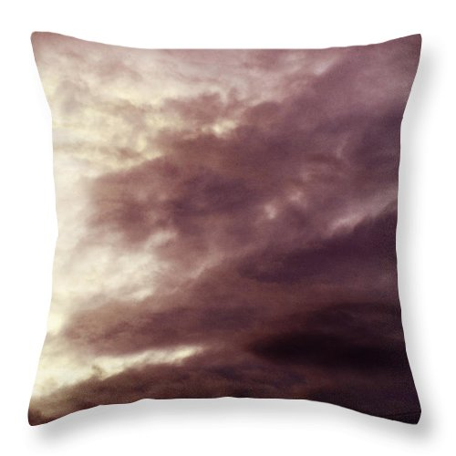 Clay Throw Pillow featuring the photograph Clouds by Clayton Bruster