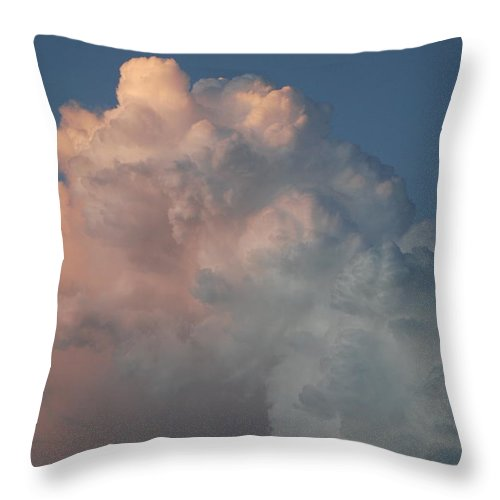 Clouds Throw Pillow featuring the photograph Cloudy Day by Rob Hans