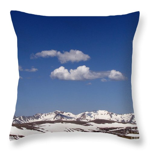 Mountains Throw Pillow featuring the photograph Colorado by Amanda Barcon