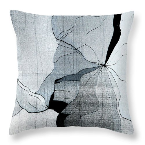 Abstract Throw Pillow featuring the photograph Colors Are Bleeding Once Again by Dana DiPasquale