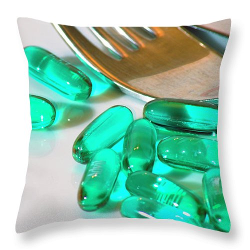 Psi Throw Pillow featuring the photograph Colourful Medication by Ilan Rosen