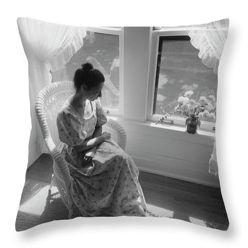Portrait Throw Pillow featuring the photograph Contemplation by Bruce Thompson