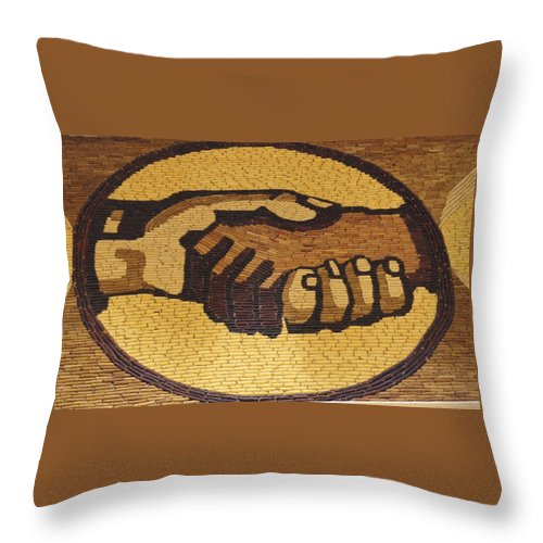 Design Throw Pillow featuring the photograph Corn Art At Corn Palace 02 by Art Spectrum