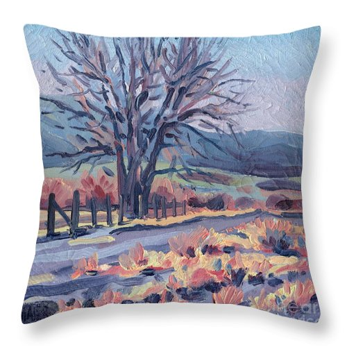 Road Throw Pillow featuring the painting Country Road by Donald Maier