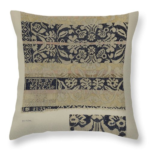 Throw Pillow featuring the drawing Coverlet by Eva Wilson