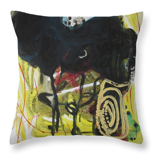 Abstract Paintings Throw Pillow featuring the painting Crescent2 by Seon-Jeong Kim
