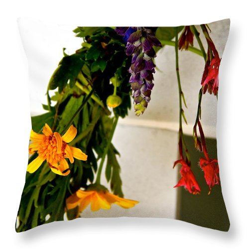 Crown Throw Pillow featuring the photograph Crown by Gretchen Smith