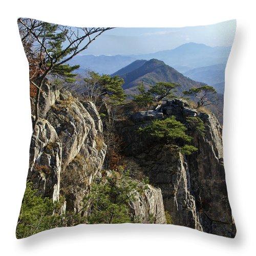 Korea Throw Pillow featuring the photograph Daedunsan by Michele Burgess