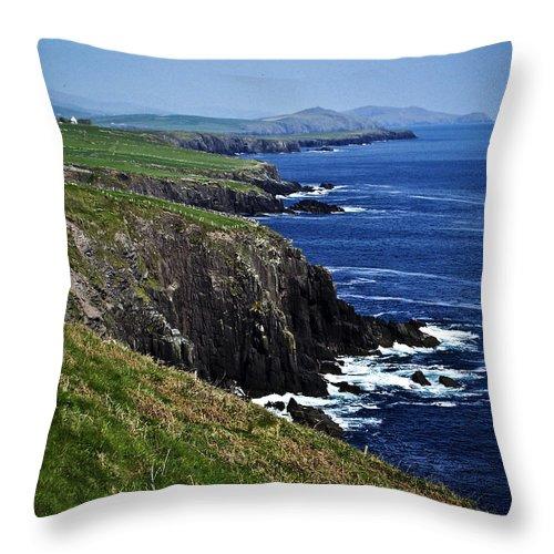 Irish Throw Pillow featuring the photograph Dingle Coastline Near Fahan Ireland by Teresa Mucha