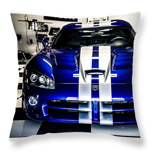 Dodge Viper Throw Pillow featuring the photograph Dodge Viper by Mark Maloney