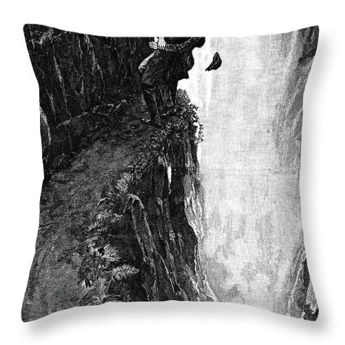 1893 Throw Pillow featuring the photograph Doyle: Sherlock Holmes by Granger