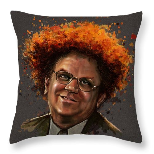 Dr. Steve Brule Throw Pillow featuring the painting Dr. Steve Brule by Fay Helfer