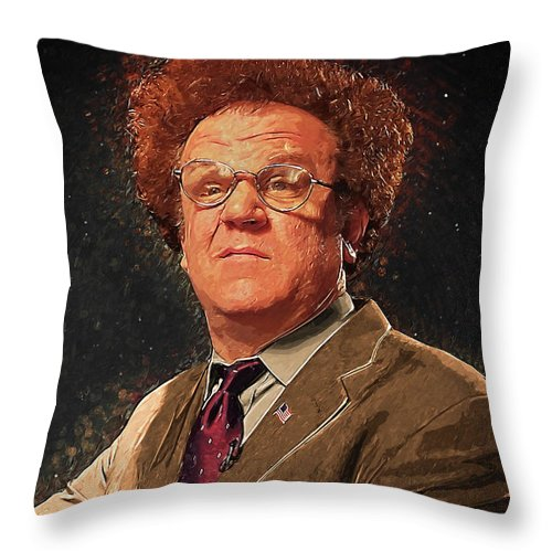 Dr Steve Brule Throw Pillow featuring the digital art Dr Steve Brule by Zapista Zapista