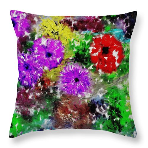 Landscape Throw Pillow featuring the digital art Dream Garden II by David Lane