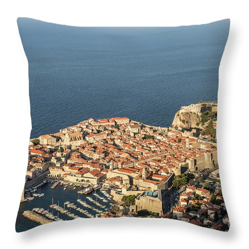 Ancient Throw Pillow featuring the photograph Dubrovnik And The Adriatic Coast In Croatia by Didier Marti