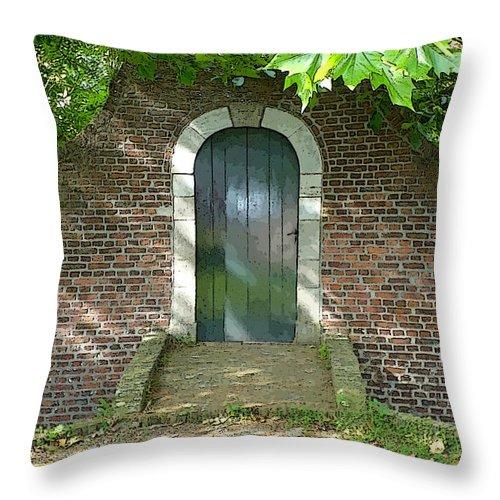 Holland Throw Pillow featuring the photograph Dutch Door Digital by Carol Groenen